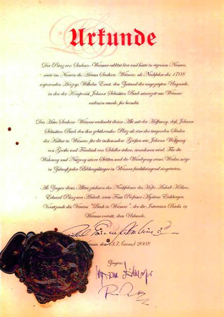 Bach's Rehabilitation Certificate