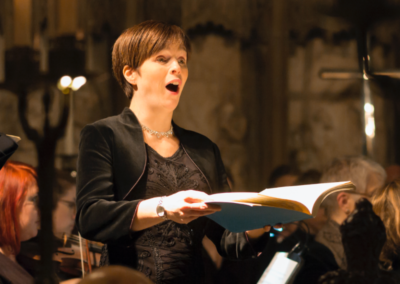 Cecilia Osmond, soprano (credit Nick Rutter) Christmas Oratorio with the Oxford Bach Soloists (December 2017)